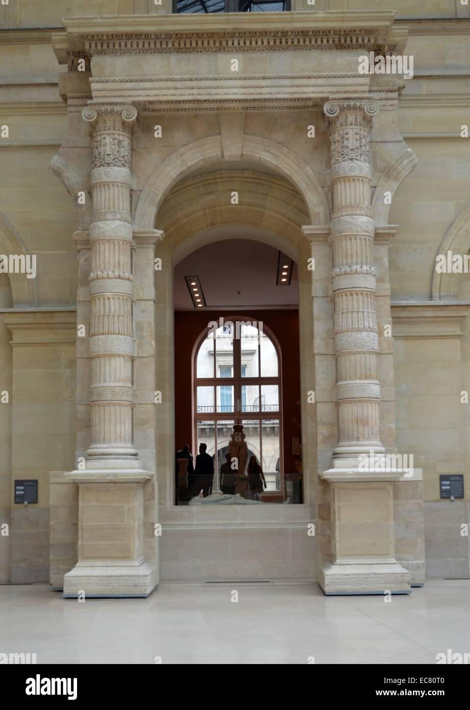 Arcade ionique du palais des Tuileries - Stock Image