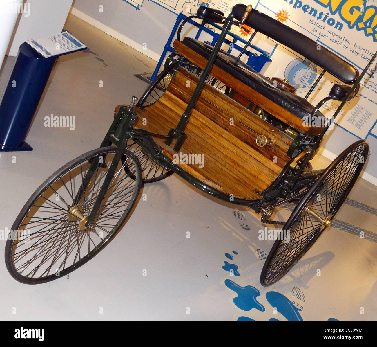 World's first motor car - Stock Image