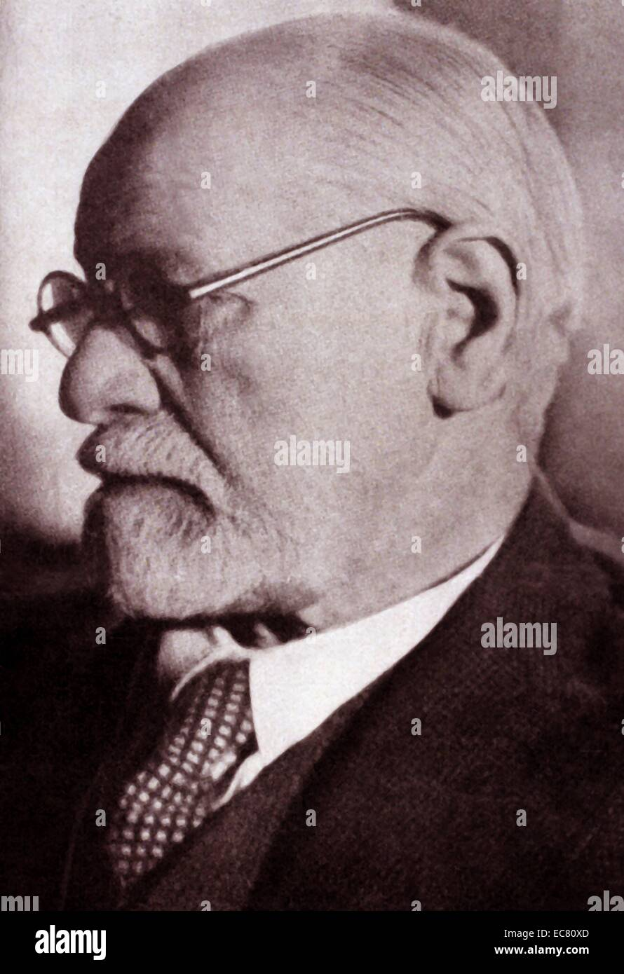 Sigmund Freud (1856– 1939) was an Austrian neurologist who became known as the founding father of psychoanalysis. - Stock Image