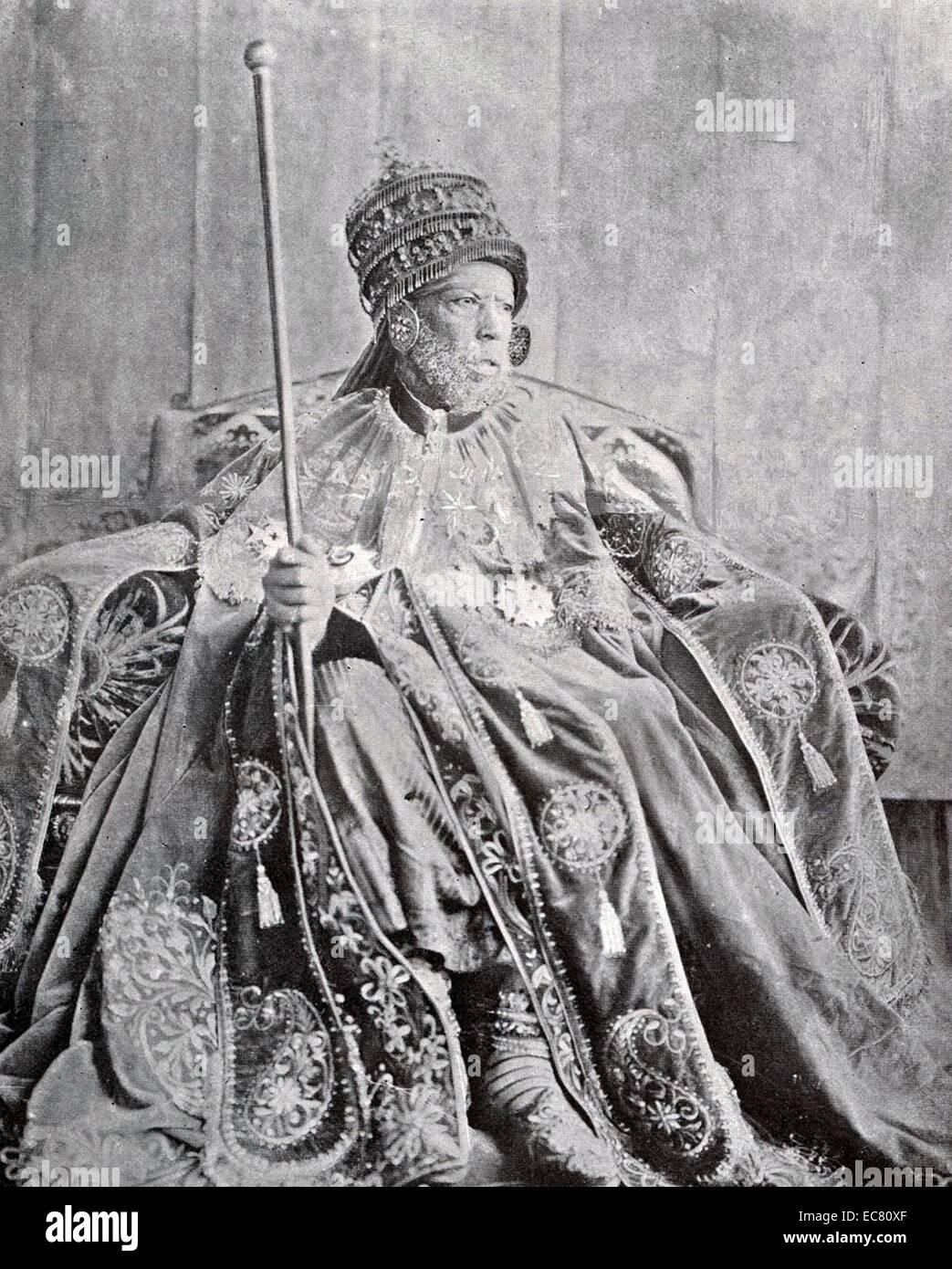 Emperor Menelik II - Stock Image