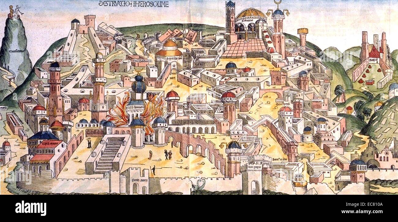 The destruction of Jerusalem by the Chaldeans - Stock Image