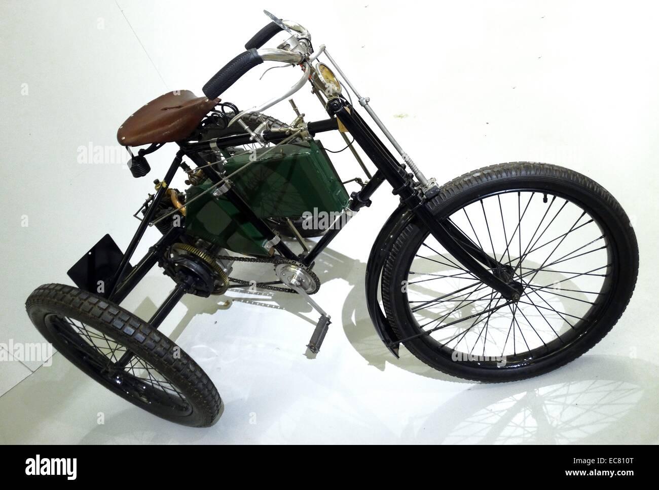 3.5hp Royal Riley motorised tricycle - Stock Image