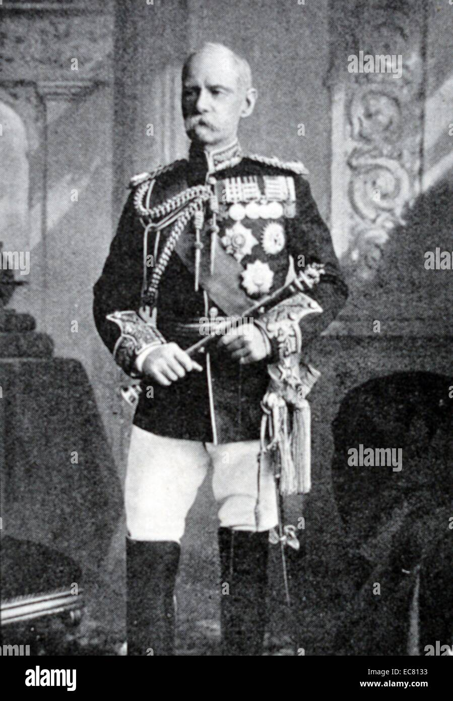 Photograph of Field Marshal Frederick Sleigh Roberts (1832 – 1914) in uniform. Dated 1901 - Stock Image