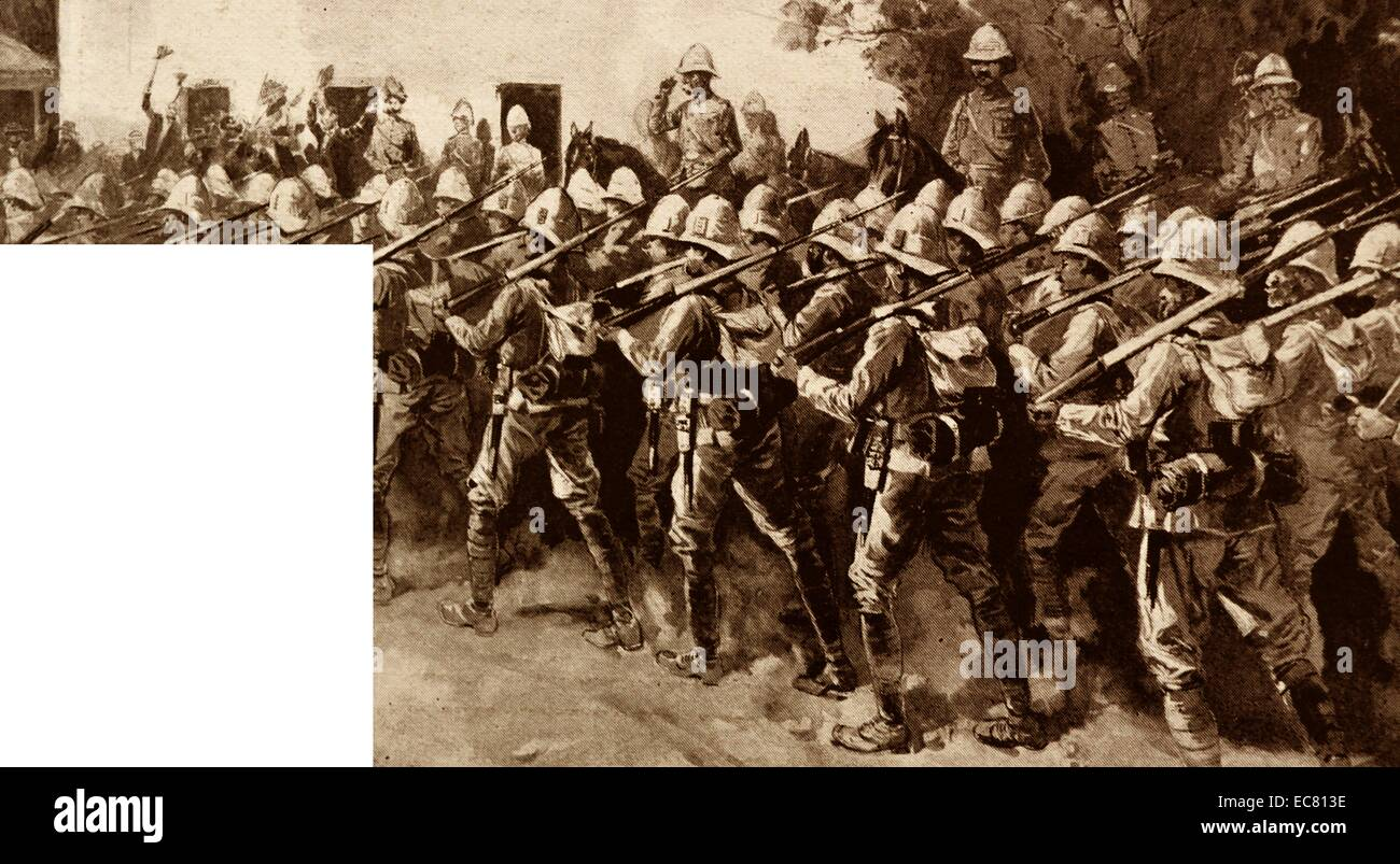 English troops in South Africa during the Boer War 1900 - Stock Image