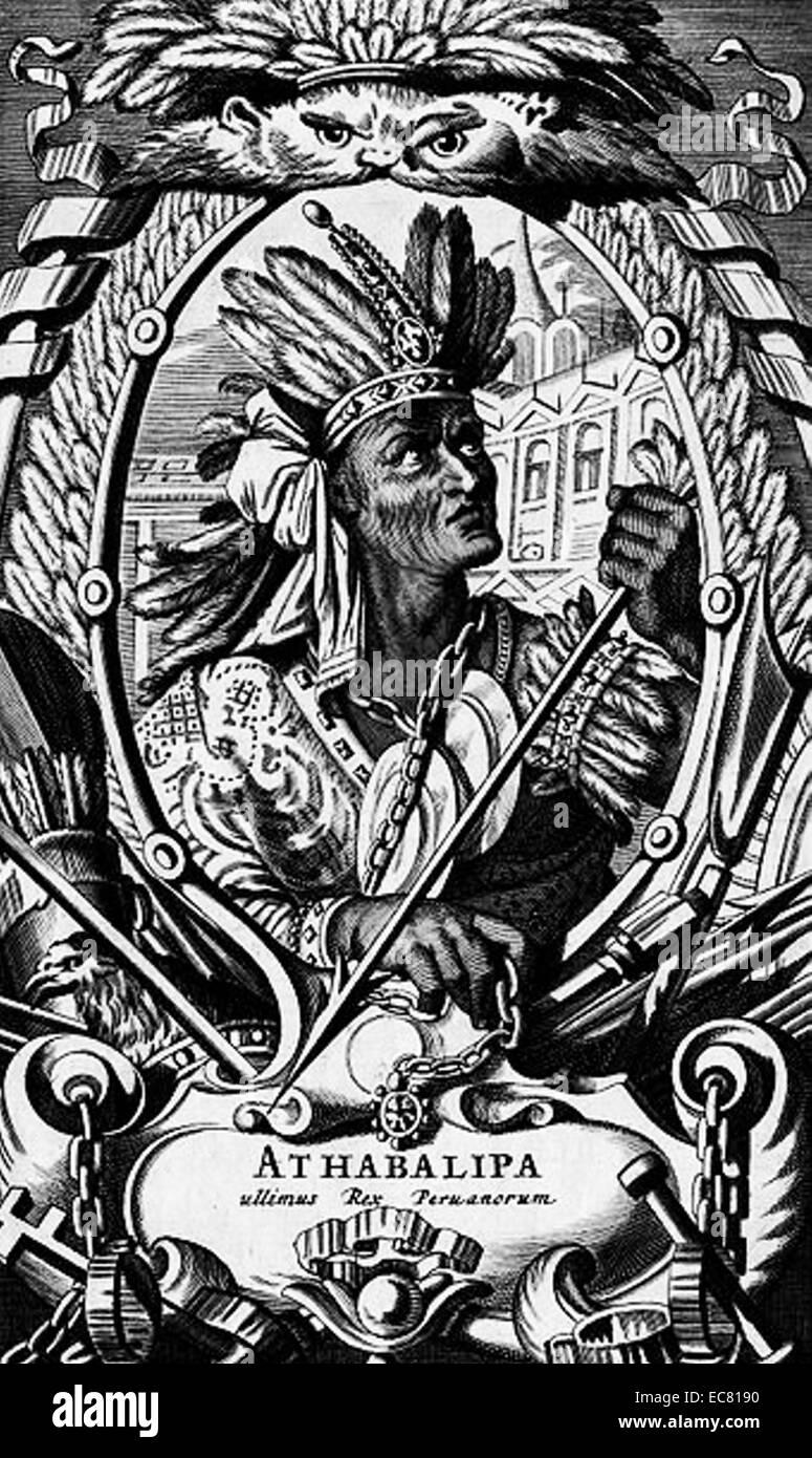 Emperor Atahualpa - Stock Image