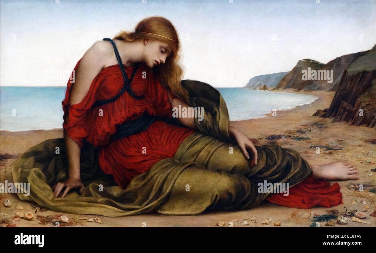 Ariadne in Naxos 1877, by Evelyn De Morgan Stock Photo