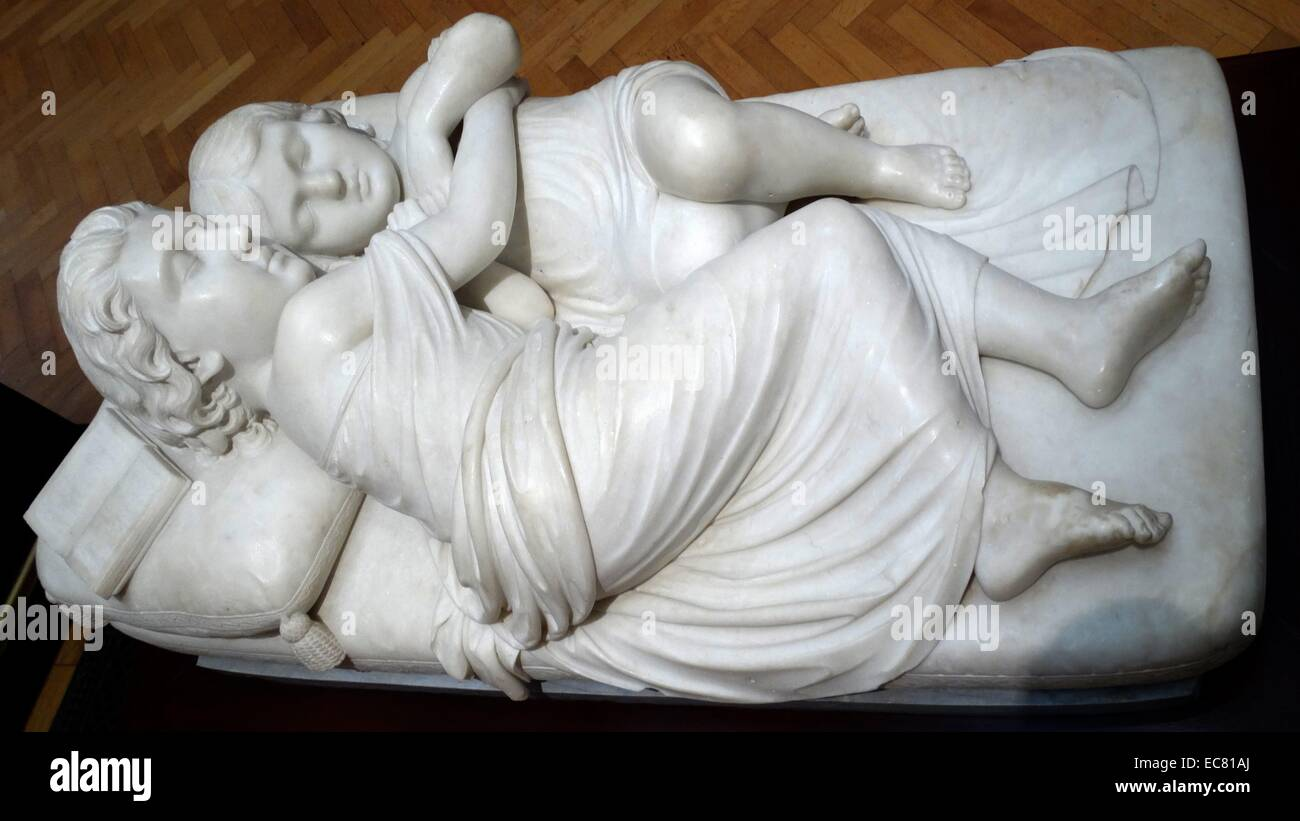 The princes sleeping in the tower 1862 by Augusta Freeman (1826- Unknown) - Stock Image