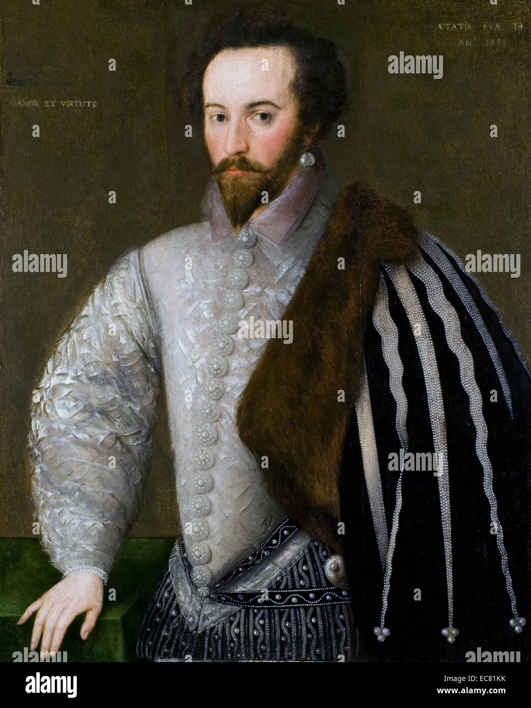 Portrait of Sir Walter Raleigh - Stock Image