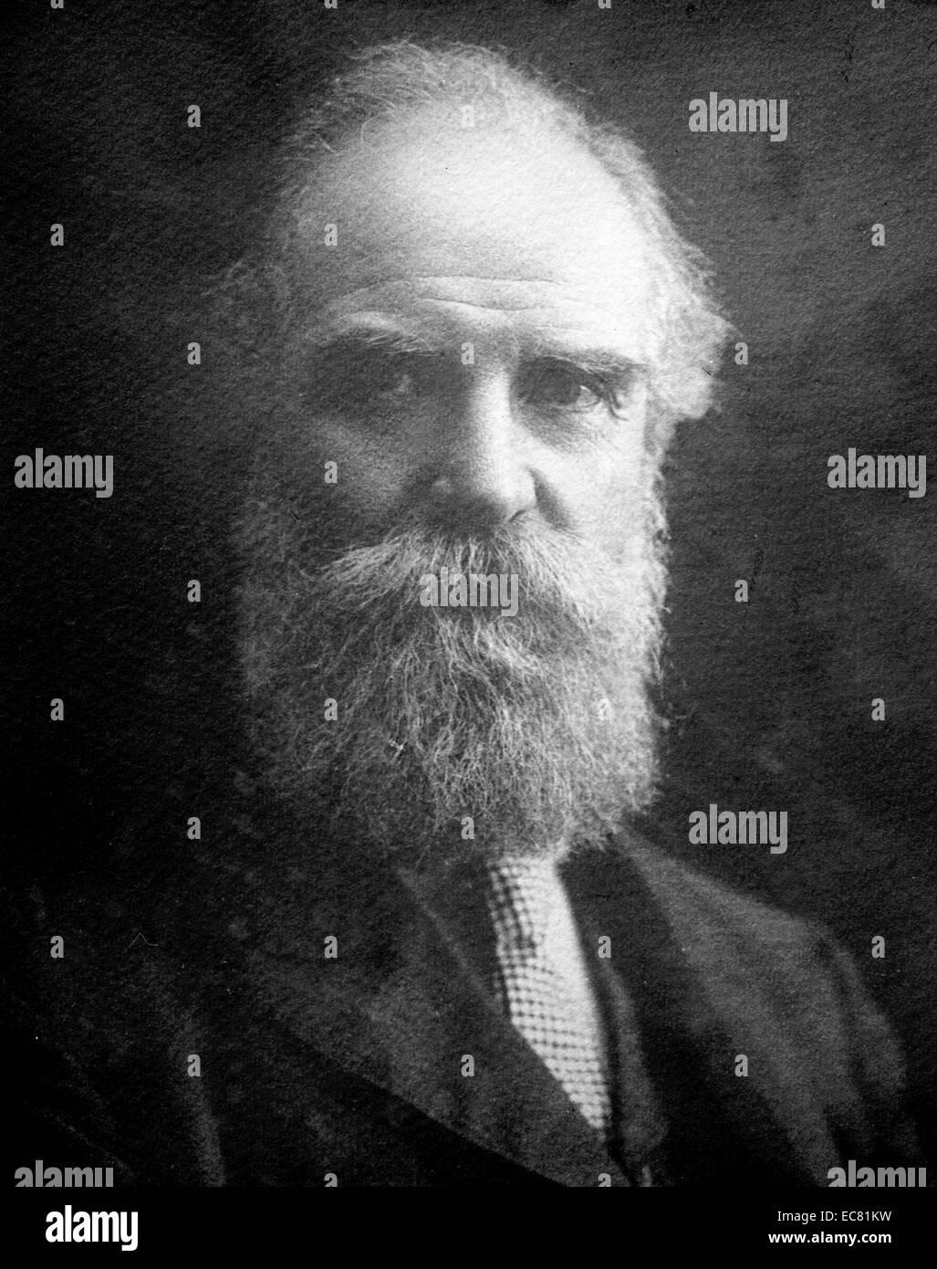 Photograph of Nikolai Tchaikovsky (1851-1926) Russian revolutionary. Dated 1920 - Stock Image