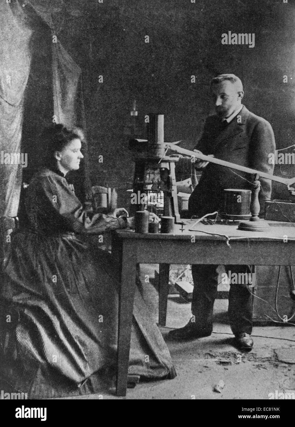 Photograph of Pierre and Marie Curie - Stock Image