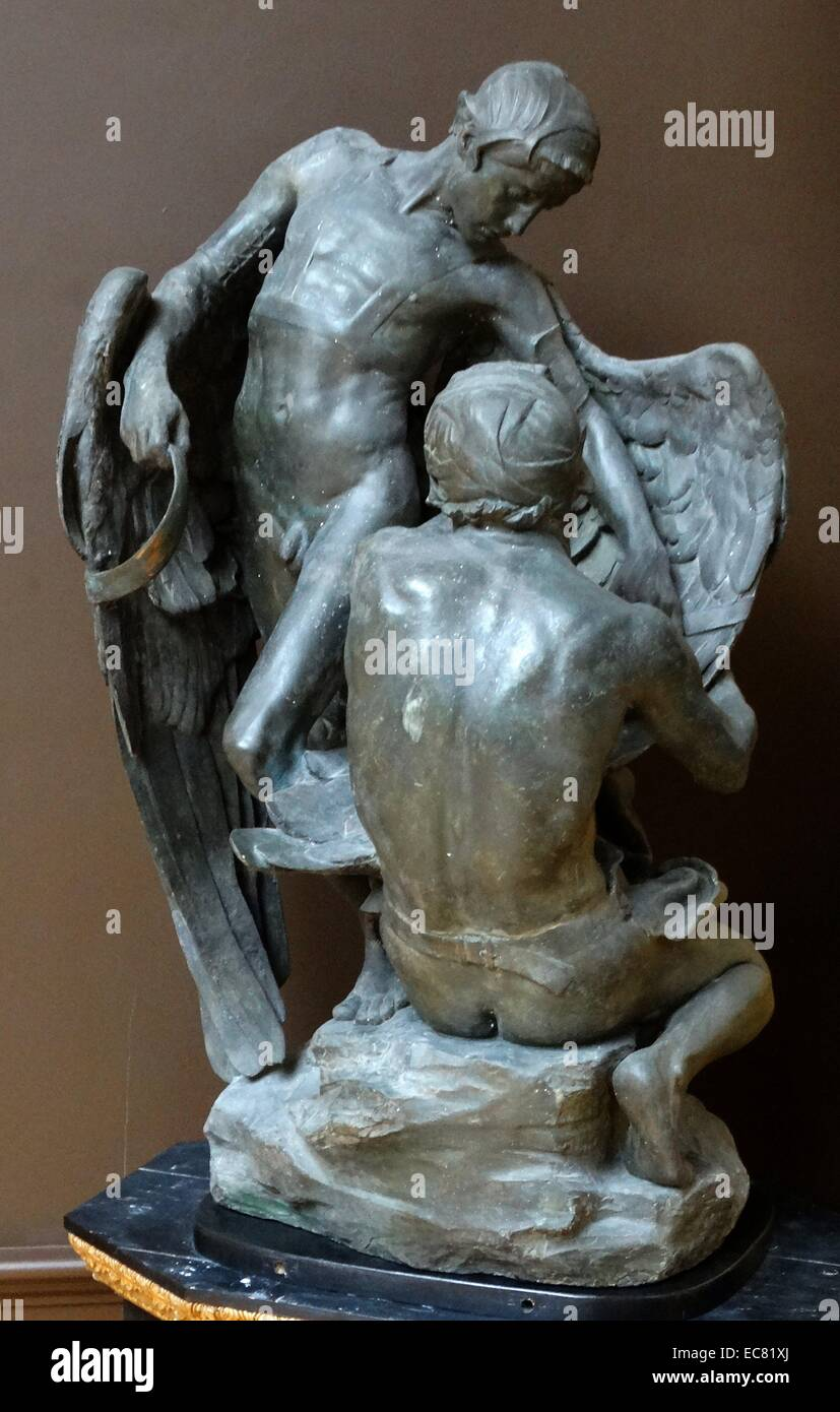 Plaster sculpture of Daedalus and Icarus (detail); 1895 by Francis Derwent Wood 1871-1926 - Stock Image