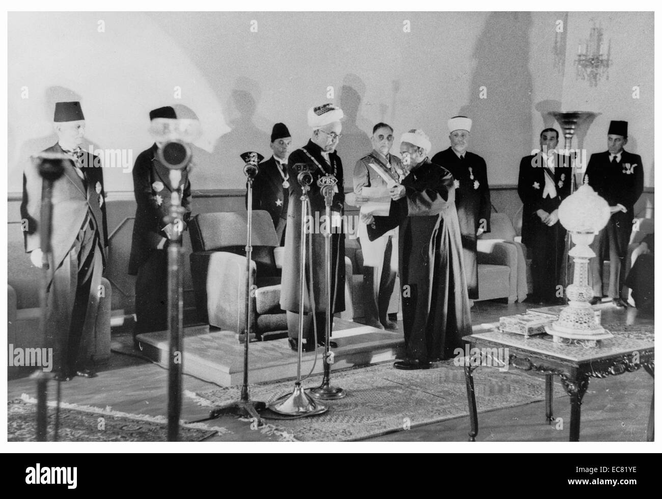 Coronation of King Abdullah of Jordan (trans-Jordan); in Amman on May 25, 1946 - Stock Image