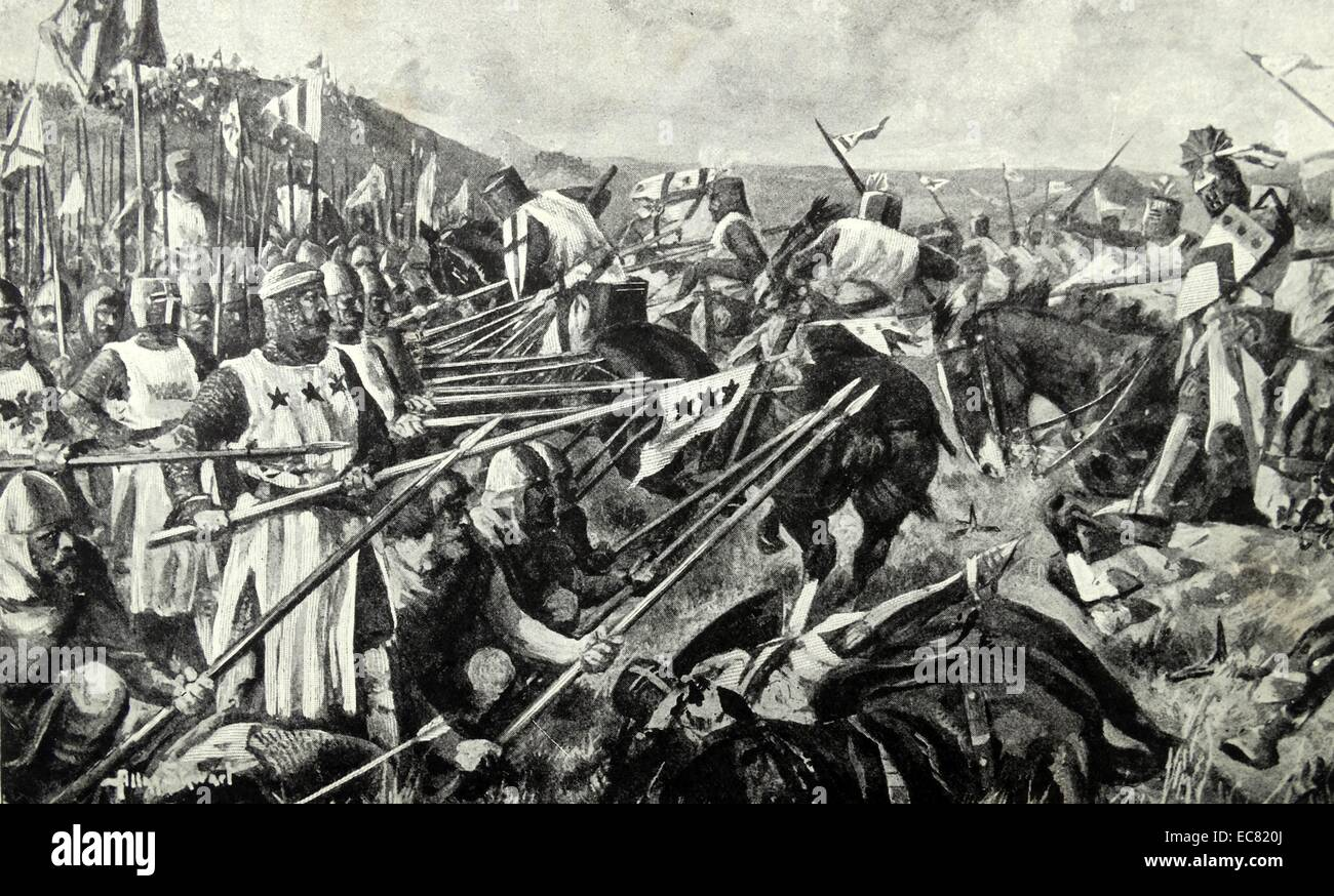 The Battle of Bannockburn (24 June 1314),