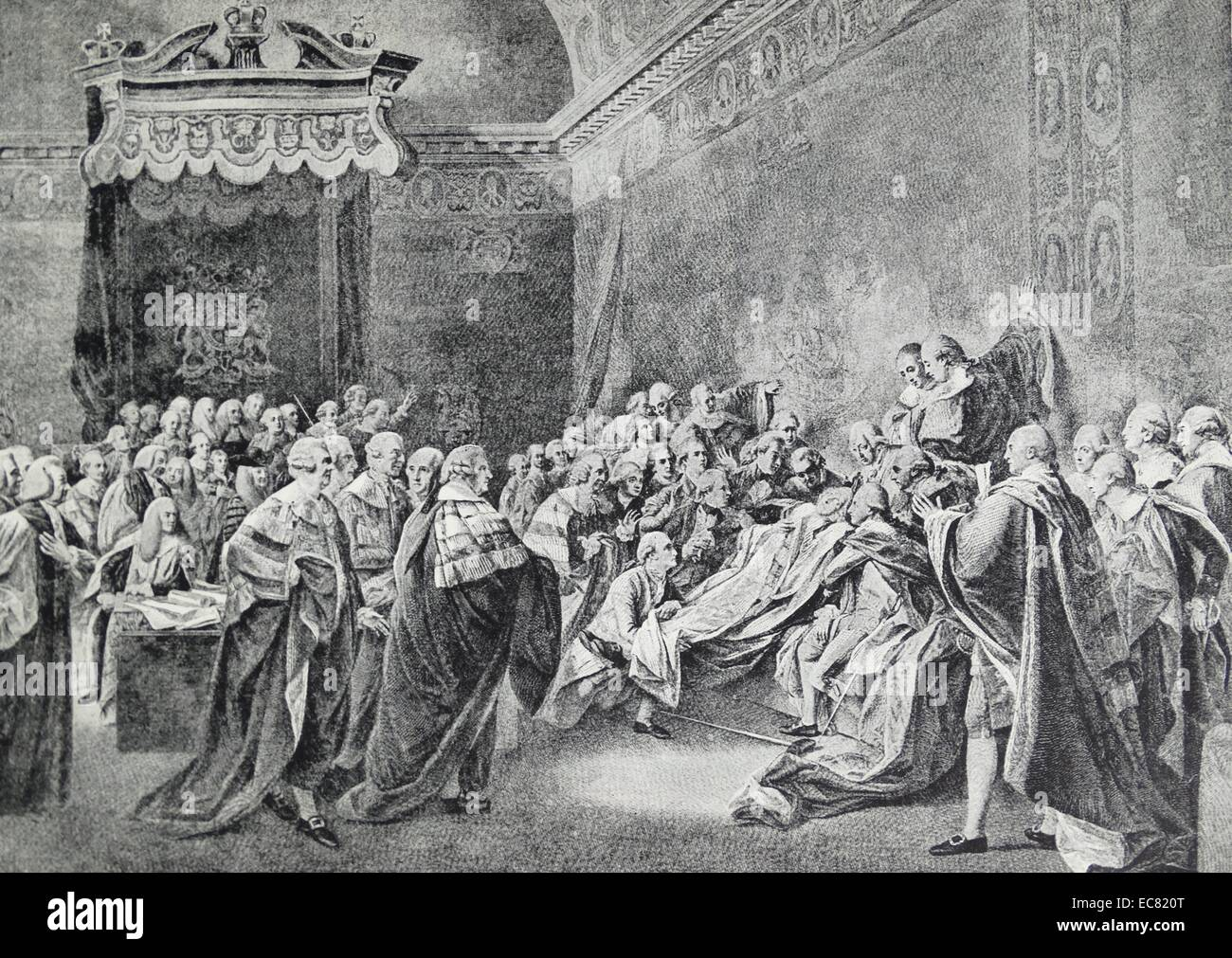 Death of William Pitt, 1st Earl of Chatham; - Stock Image