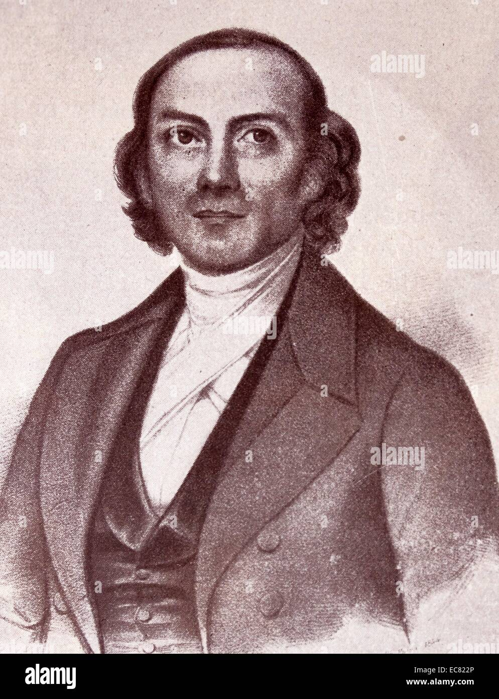 Ernst Heinrich Weber (June 24, 1795 – January 26, 1878) - Stock Image