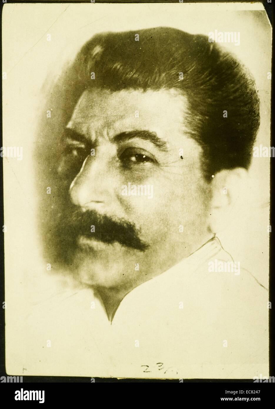 Colour Portrait of Joseph Stalin - Stock Image