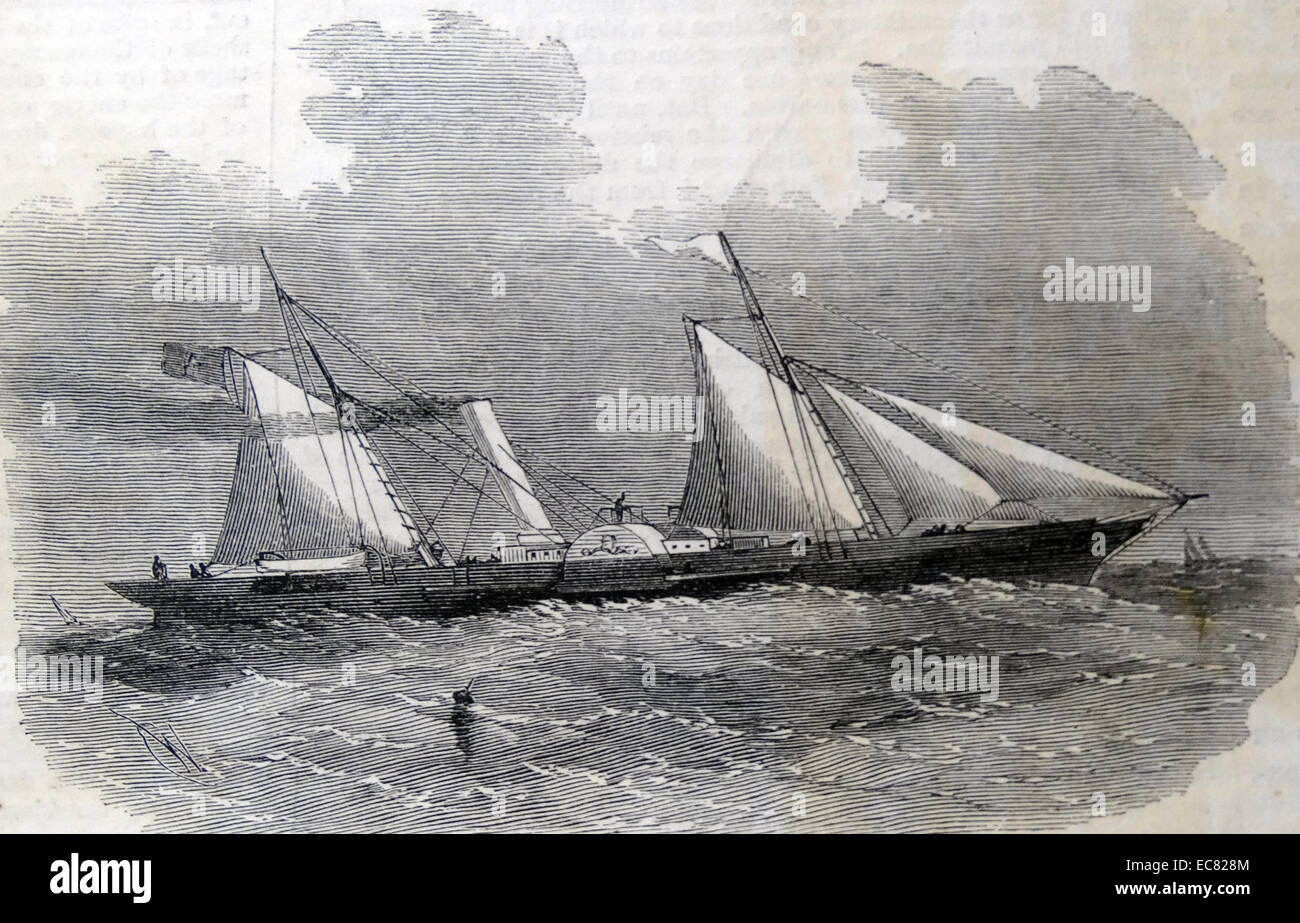 The 'Fairy Queen' Paddle-Wheel despatch-boat for General Garibaldi; September 1860. - Stock Image