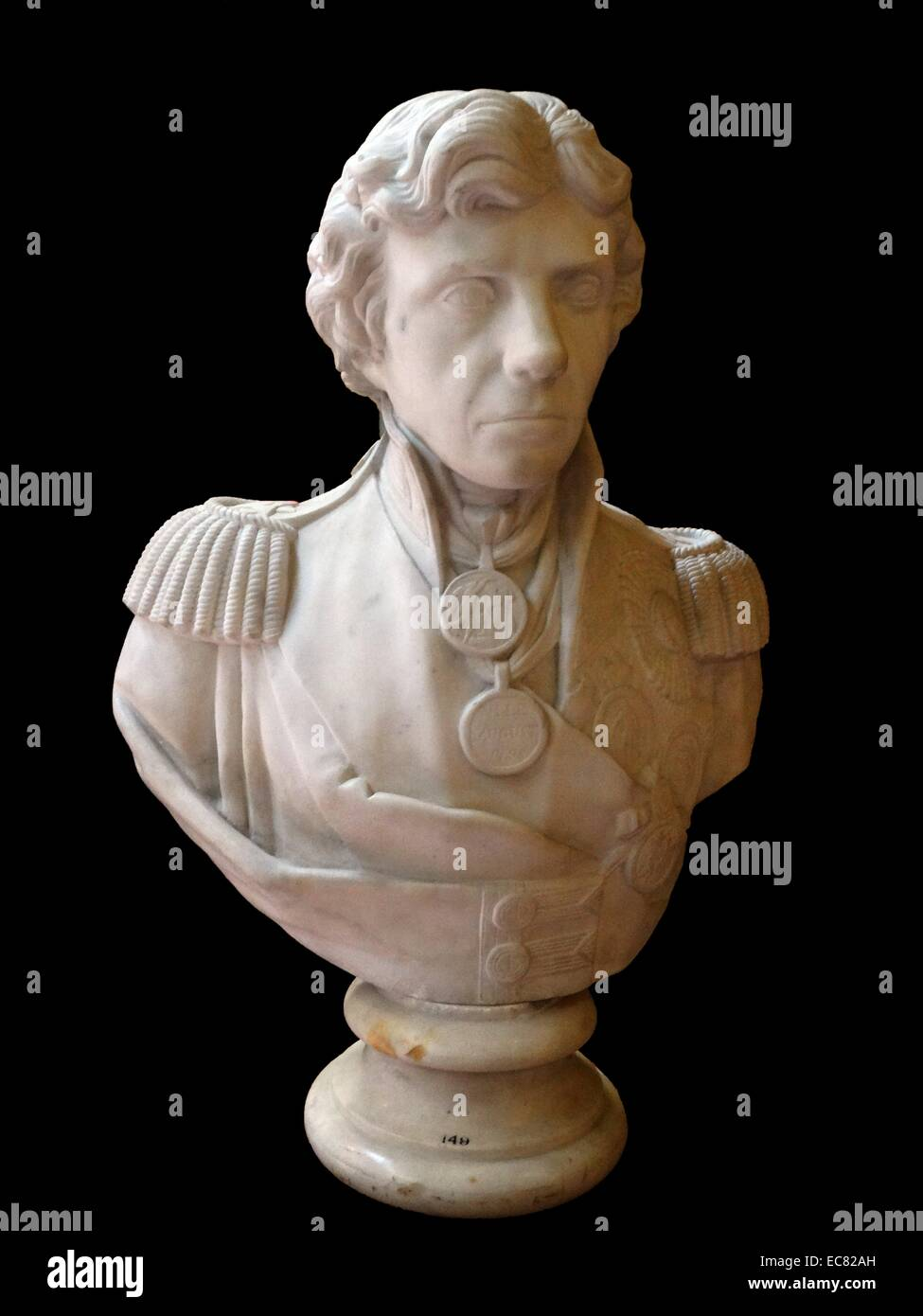Lord Nelson; marble bust 1799 - Stock Image
