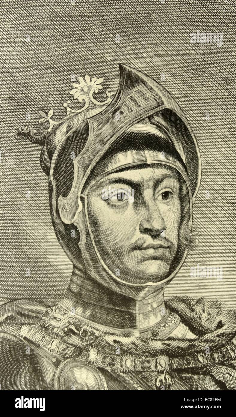 Engraving of Charles the Bold - Stock Image