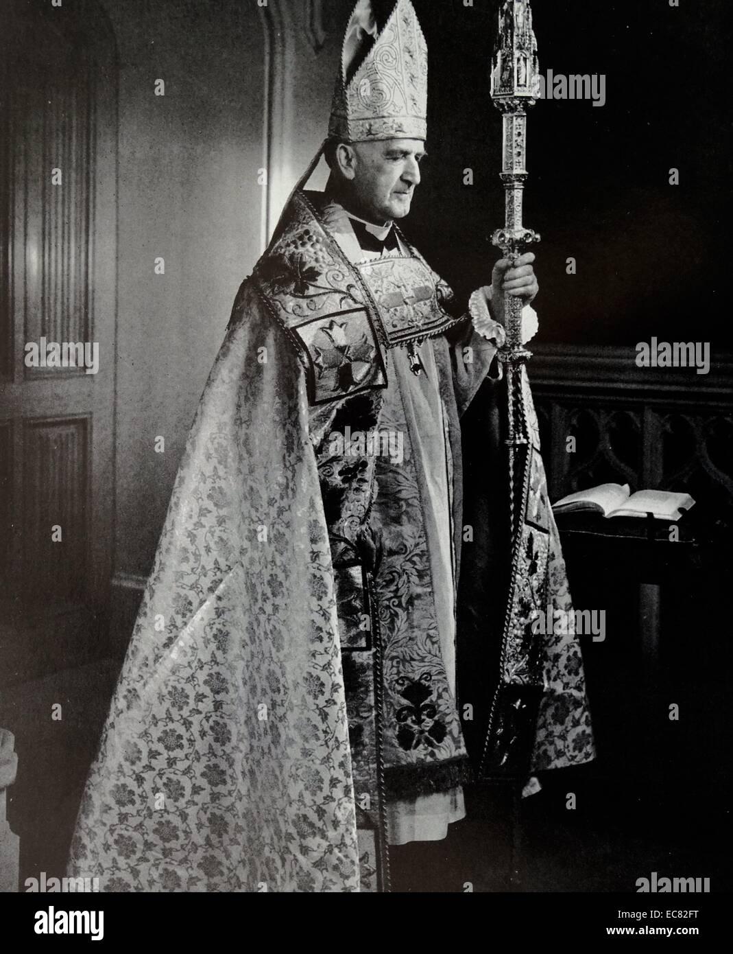 Photograph of Archbishop of Canterbury, Geoffrey Fisher (1887-1972) Archbishop of Canterbury from 1945 to 1961. - Stock Image