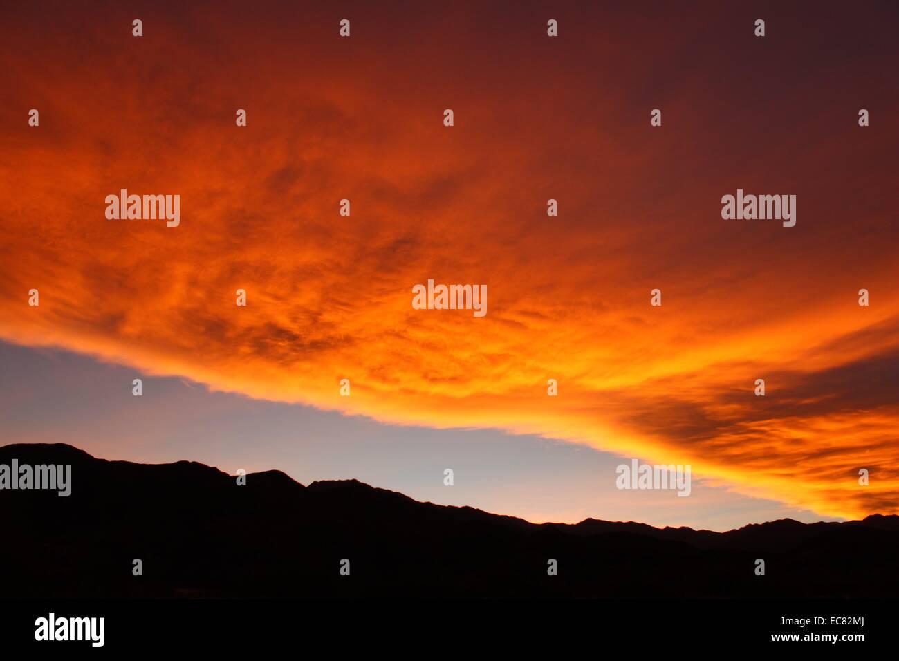 Sunset orange - Stock Image