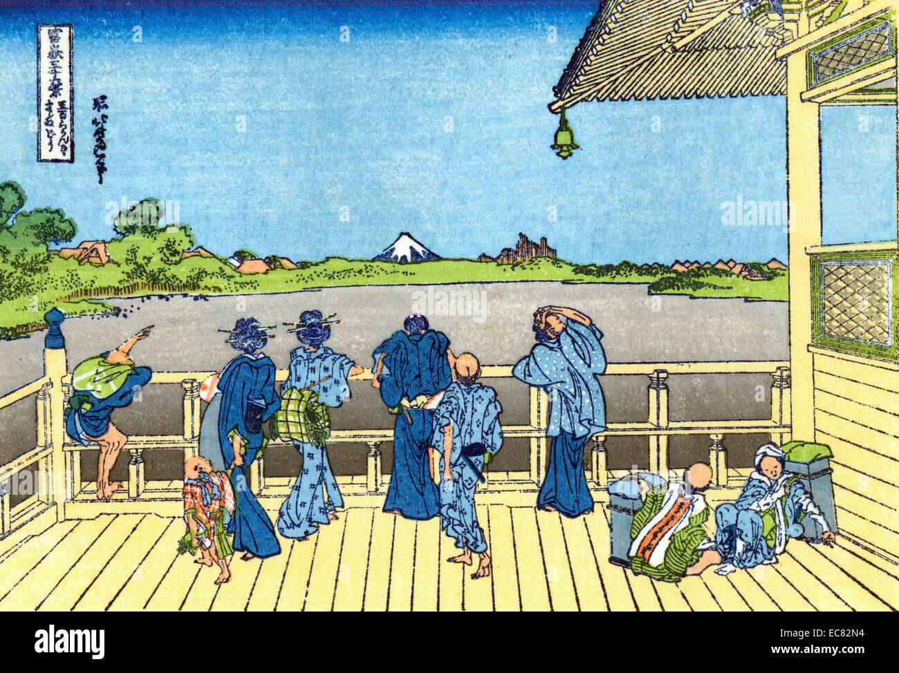 Katsushika Hokusai Fuji-from-the-Platform-of-Sasayedo - Stock Image