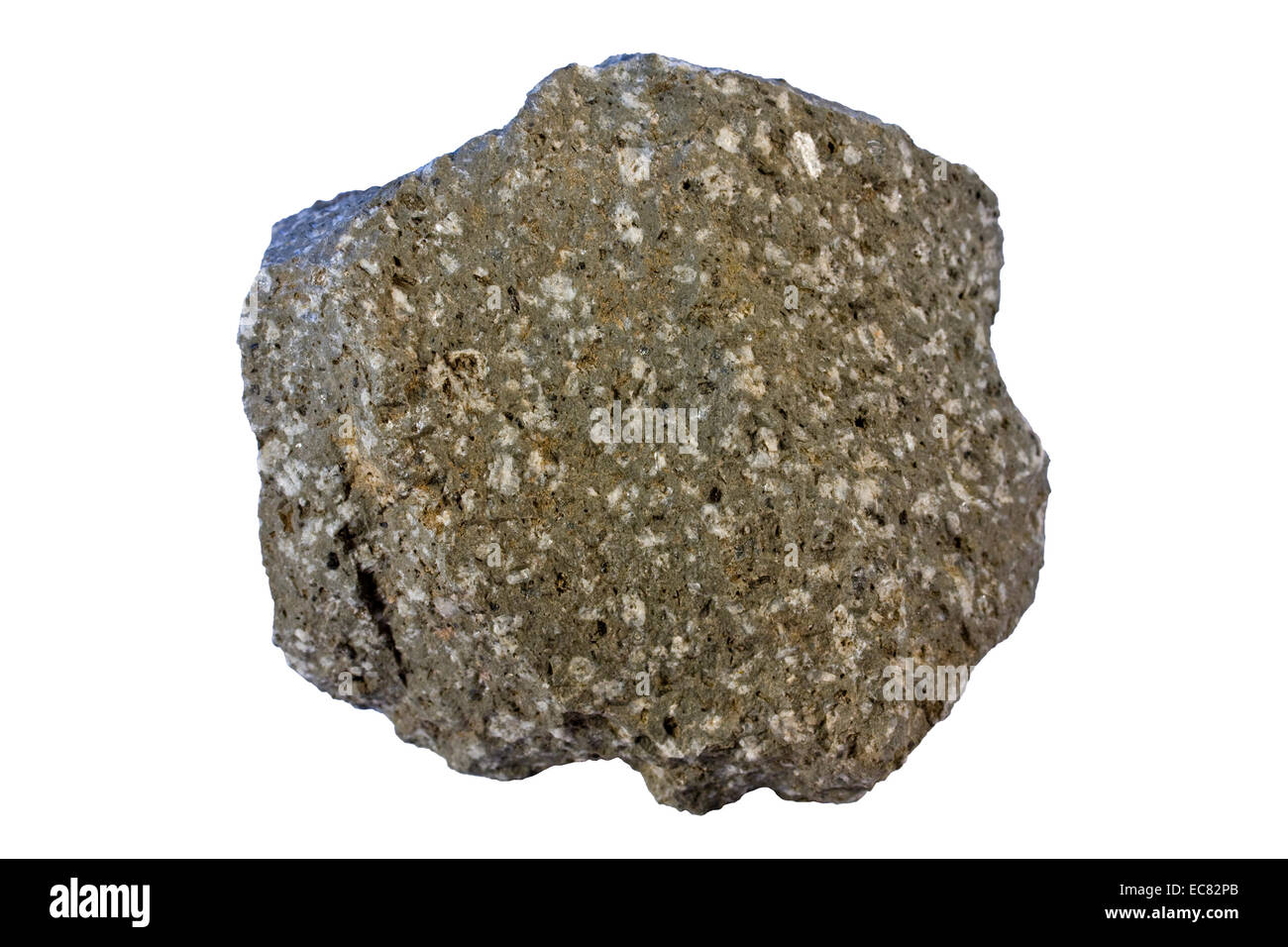 Dacite (volcanic rock with intermediate composition between felsic and mafic rocks) - Stock Image