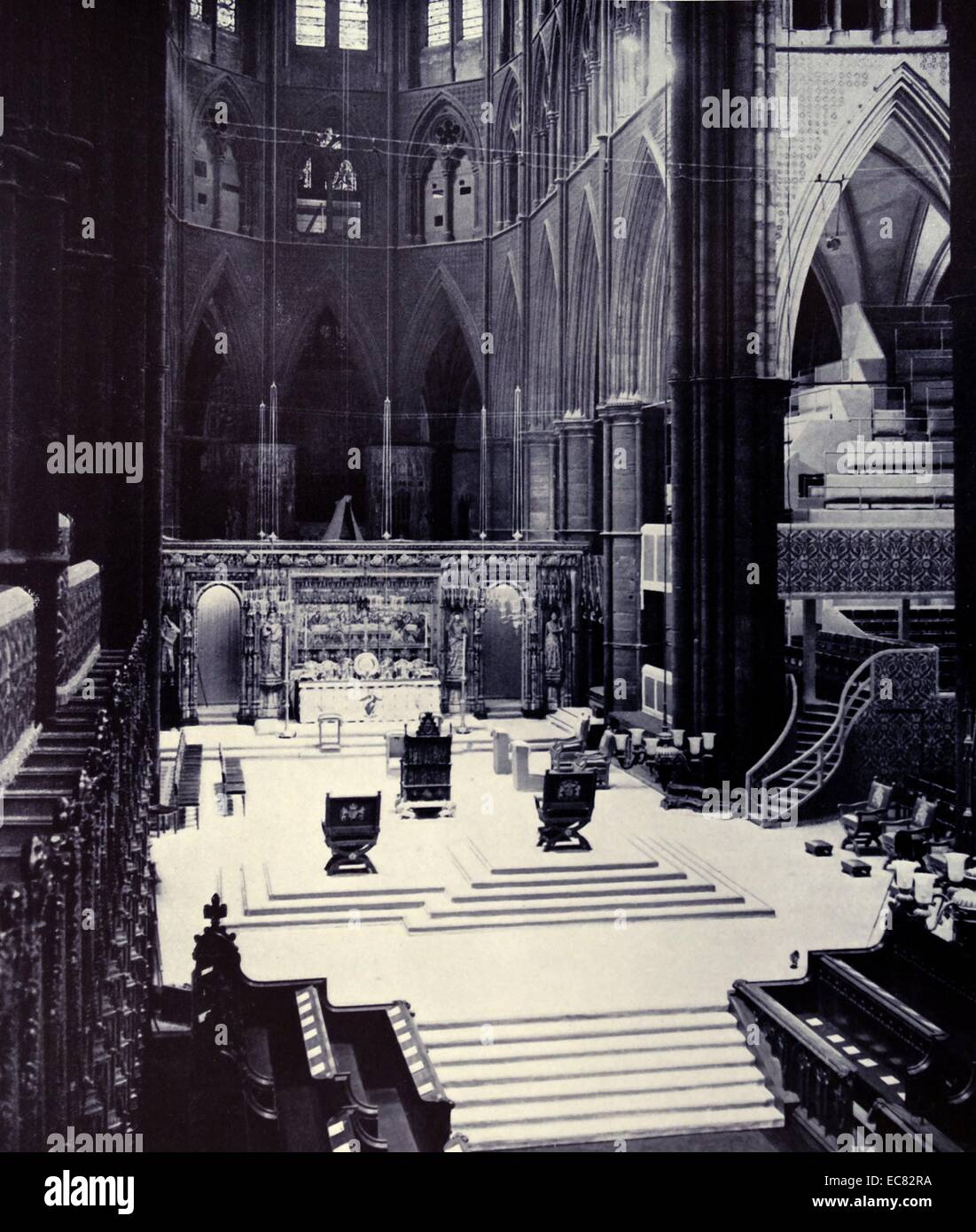 Photograph of the Coronation Chairs - Stock Image