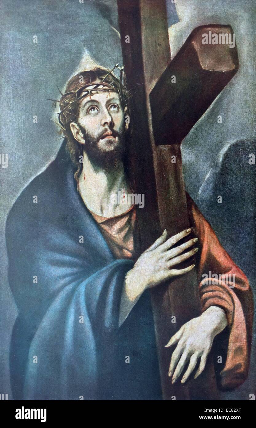 Painting of Christ - Stock Image