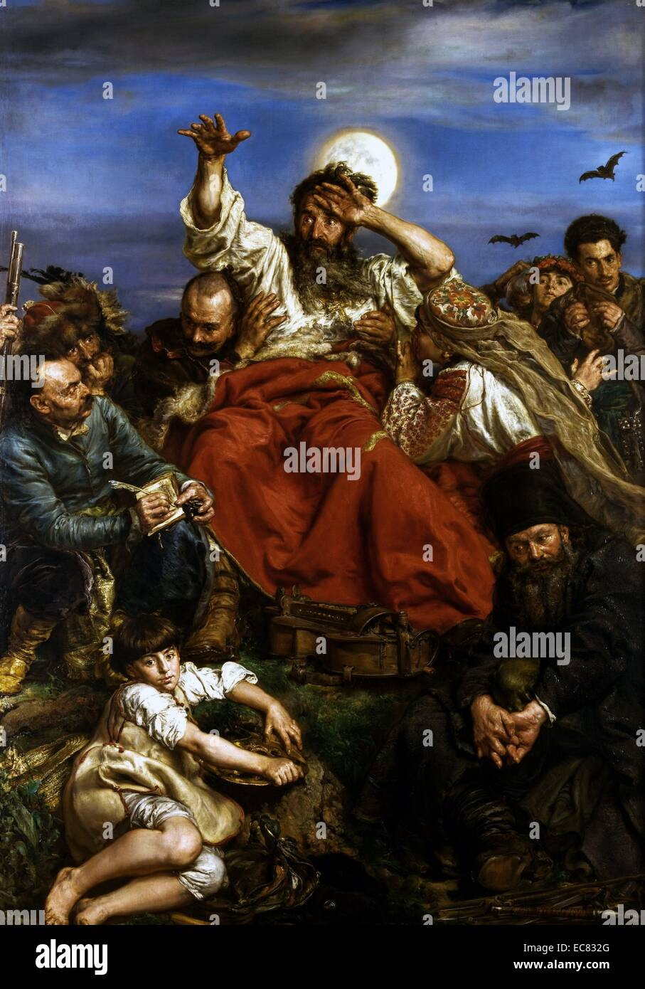 Wernyhora 1883–1884 by Jan Matejko (1838–1893). Wernyhora was a legendary 18th century Cossack bard who prophesized Stock Photo