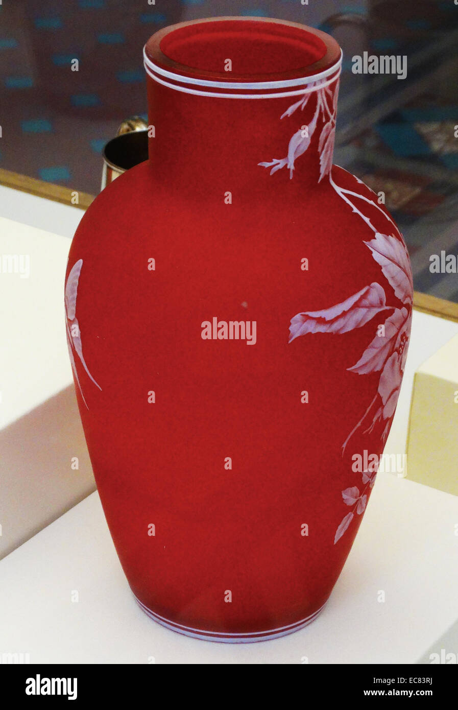 Vase; England; Stourbridge; Stevens & Williams; Cameo glass. - Stock Image