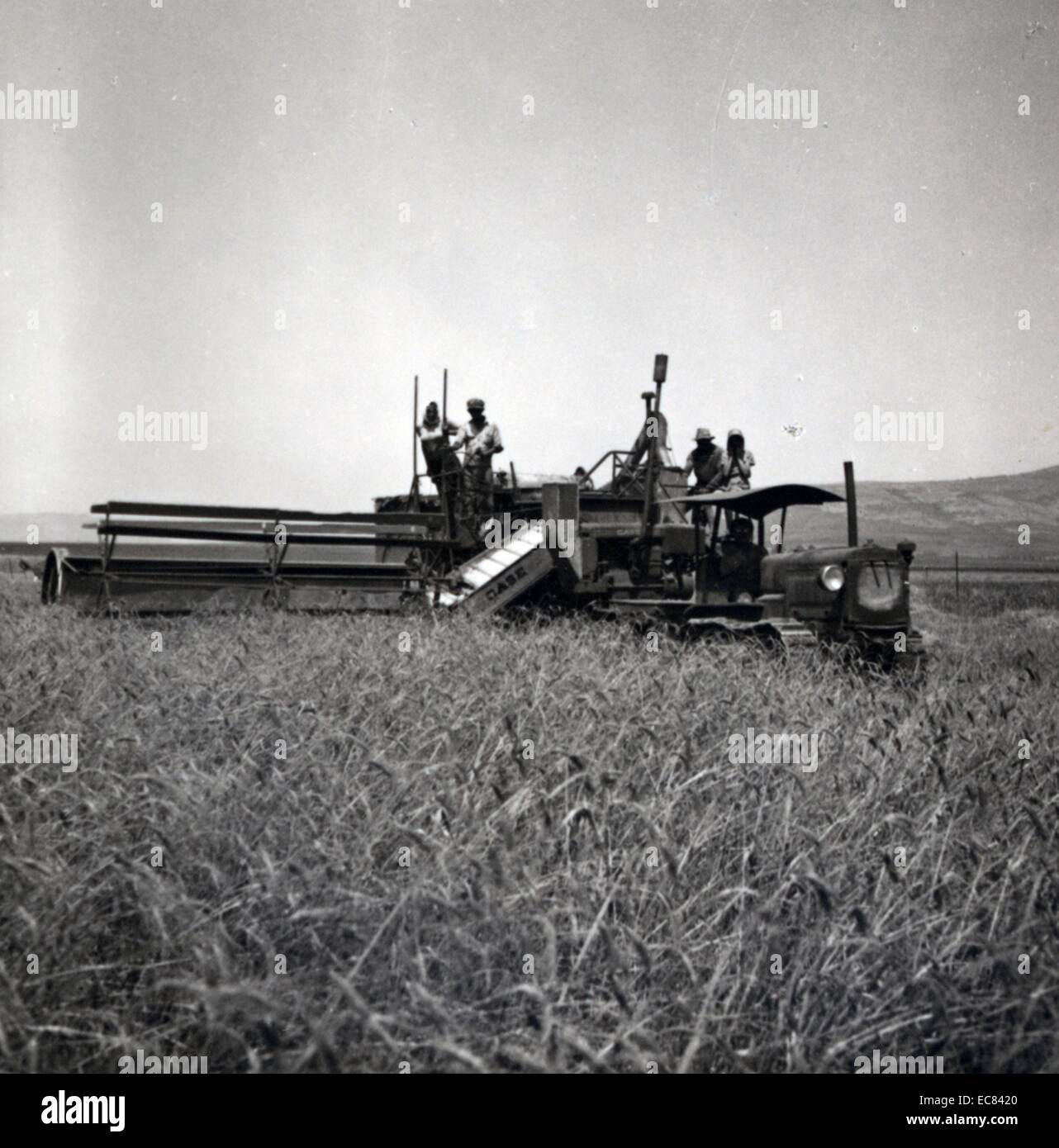 Reaper Harvester Worked By Zionists Esdraelon