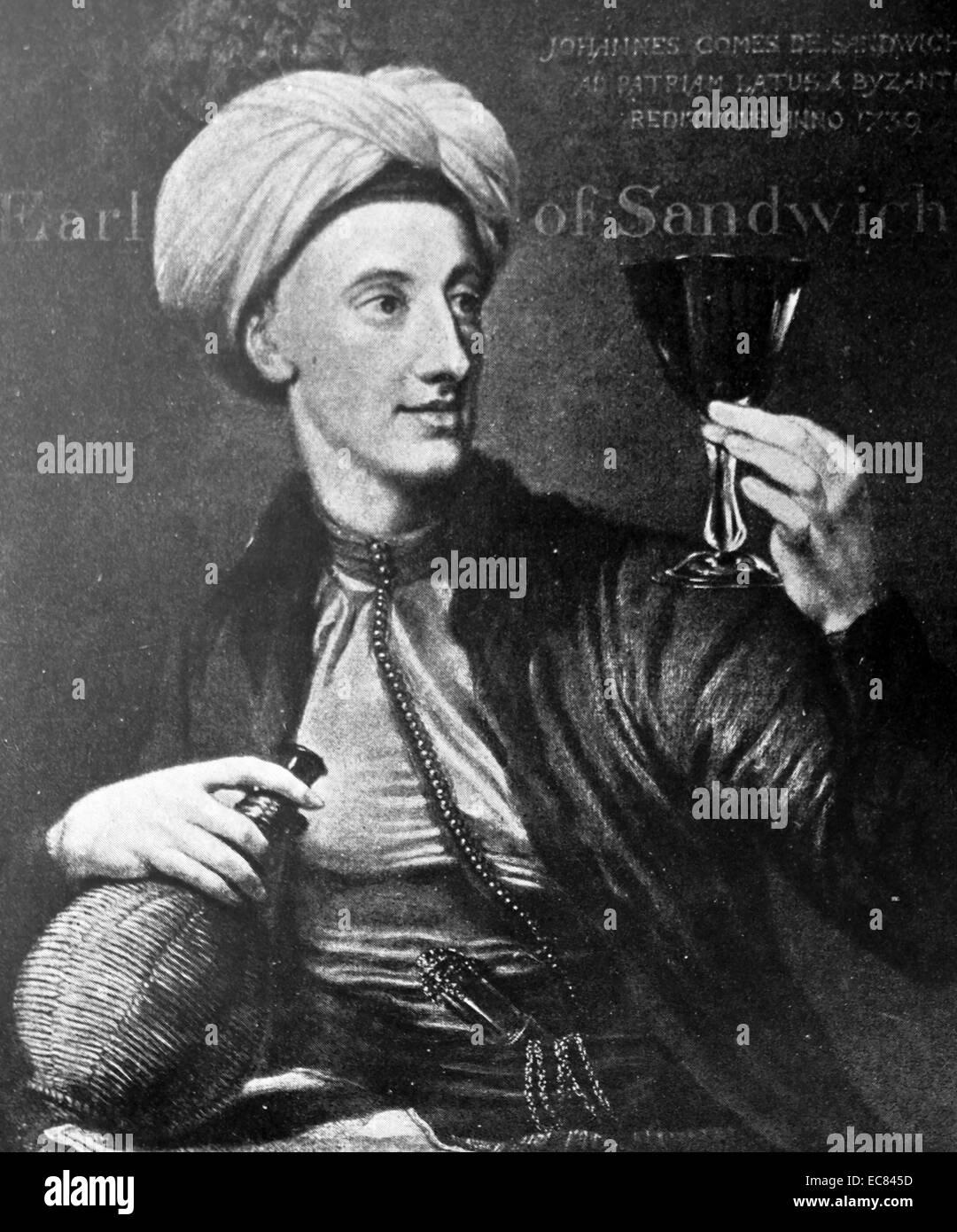 John Montagu; 4th Earl of Sandwich; (1718 – 30 April 1792); - Stock Image