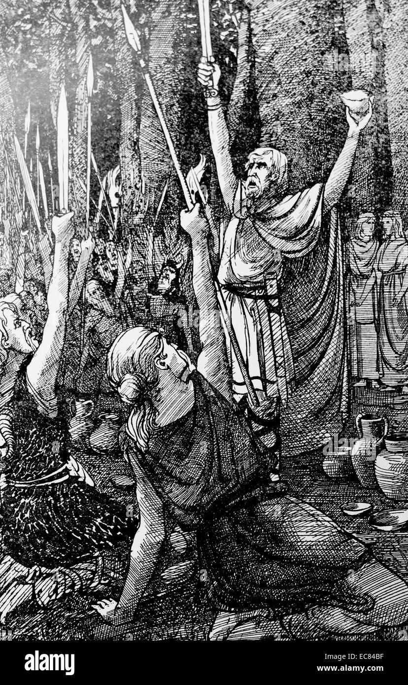 Claudius Civilis brings Batavian revolt - Stock Image