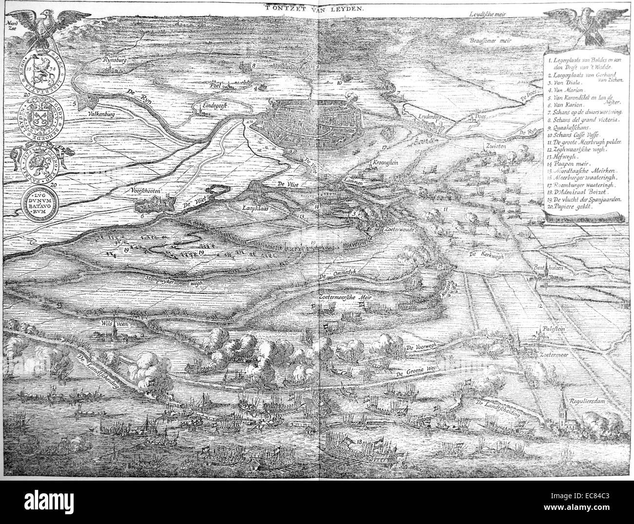 The Siege of Leiden 1574 - Stock Image