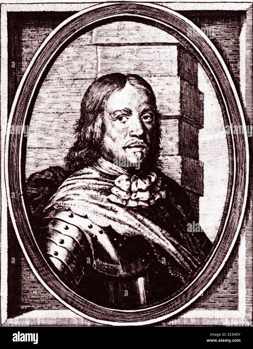 Portrait of Per Brahe the Younger (1602-1680) a Swedish soldier and statesman. Dated 17th Century - Stock Image