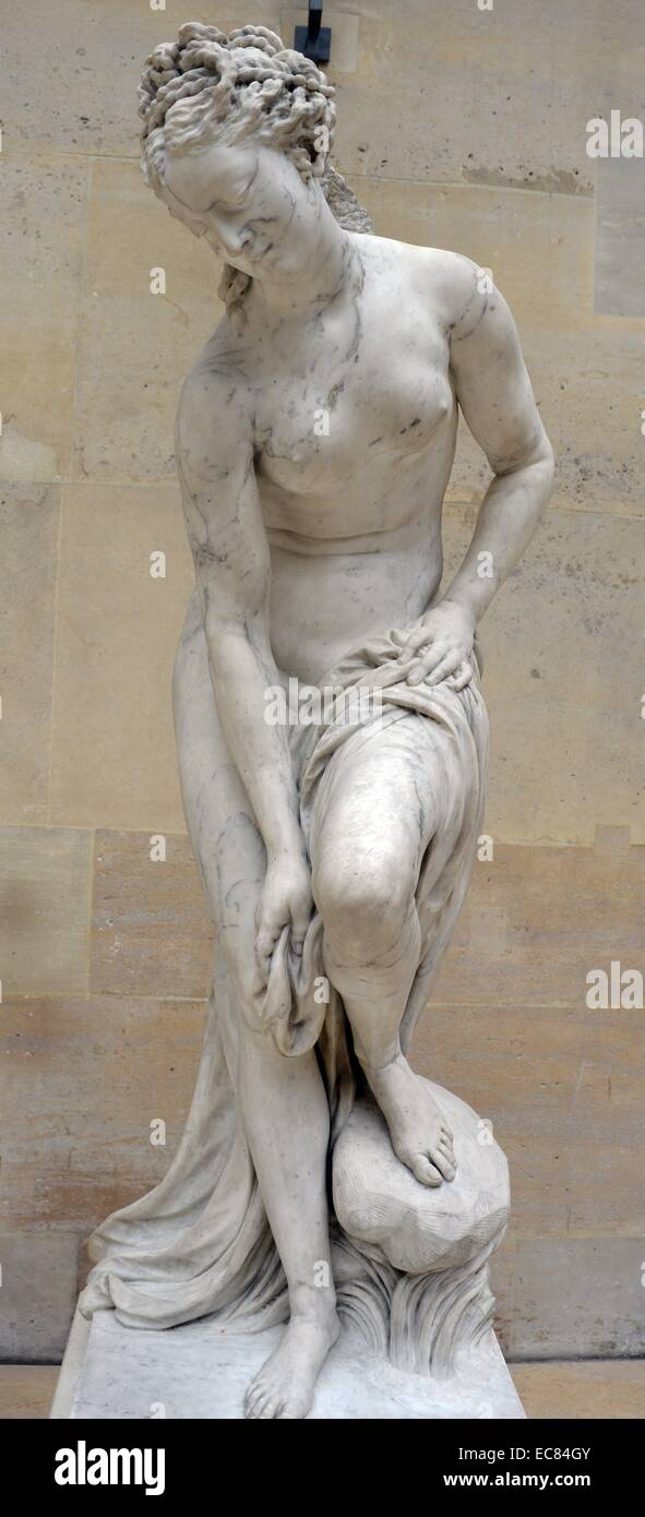 Marble statue of Venus as the bather - Stock Image