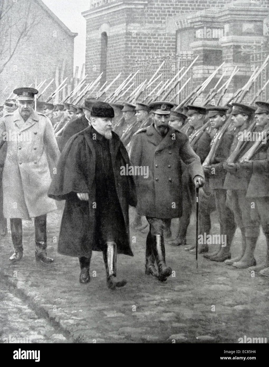 Photograph of King George V with President Raymond Poincare - Stock Image