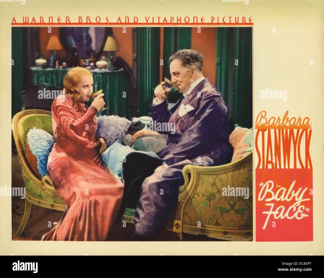Barbara Stanwyck (1907-1990); and Joseph Henry Kolker (1874 – 1947) - Stock Image