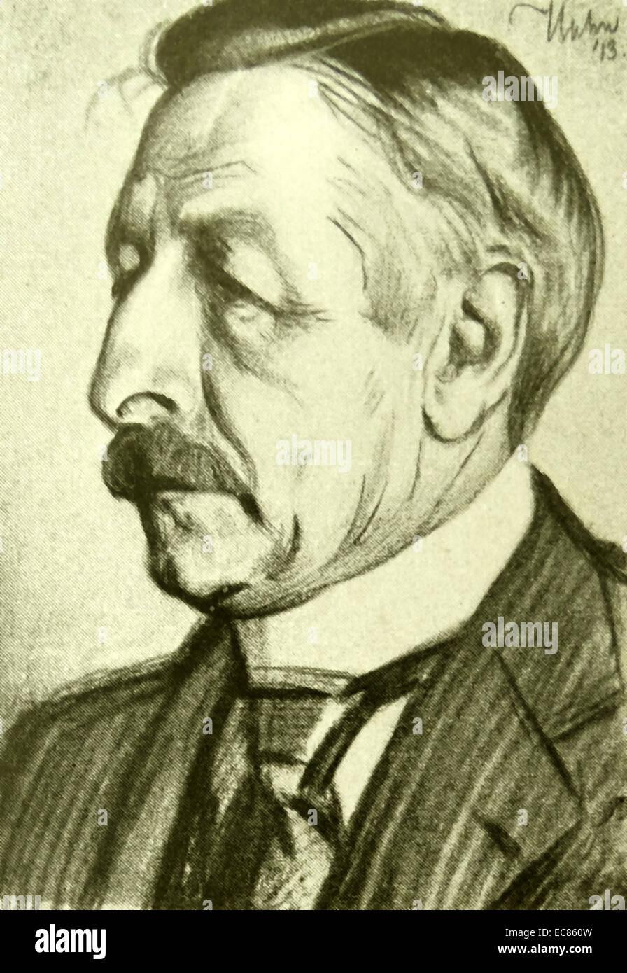 Pieter Jelles Troelstra 1860 1930 Dutch Politician Stock