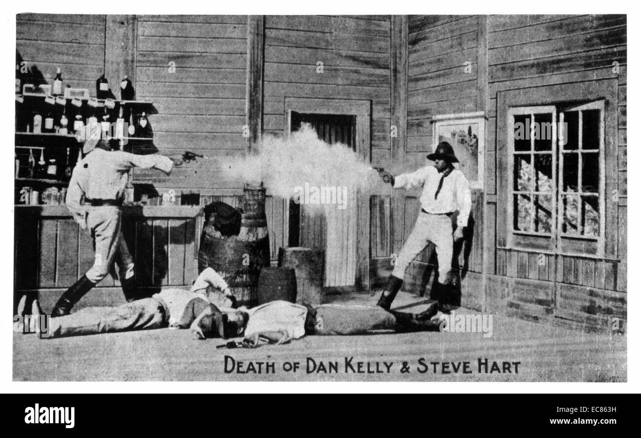 The Story of the Kelly Gang' is a 1906 Australian film - Stock Image