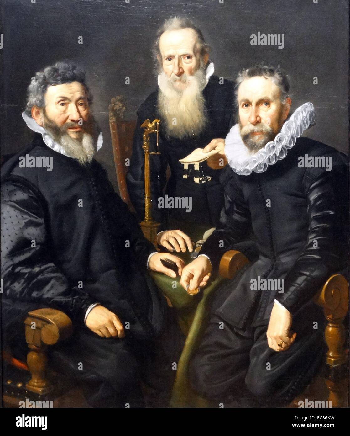 Gorup Portrait of an Unidentified Board of Governors. Painted by Thomas de Keyser (1596-1667) Dutch painter. Dated - Stock Image