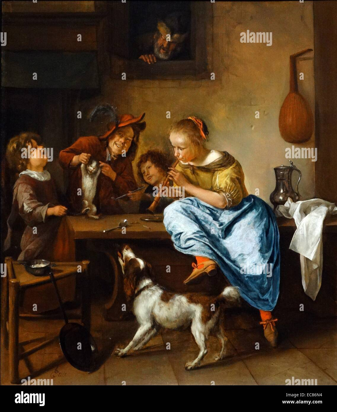 Painting titled 'The Dancing Lesson' - Stock Image