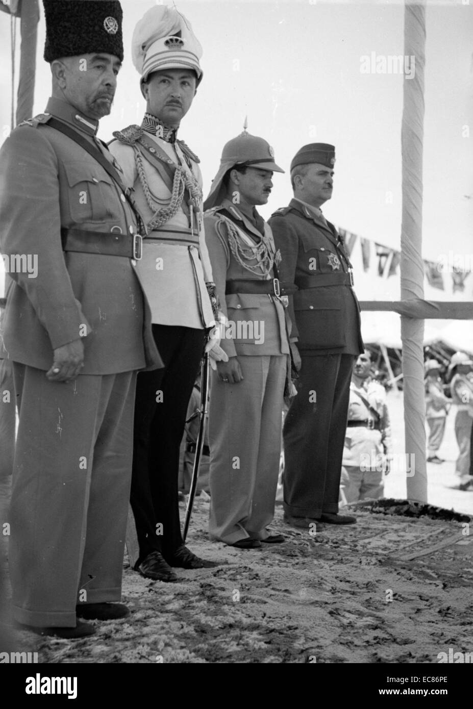 Photograph of Coronation of King Abdullah, in Amman Jordan. Dated 1946 - Stock Image