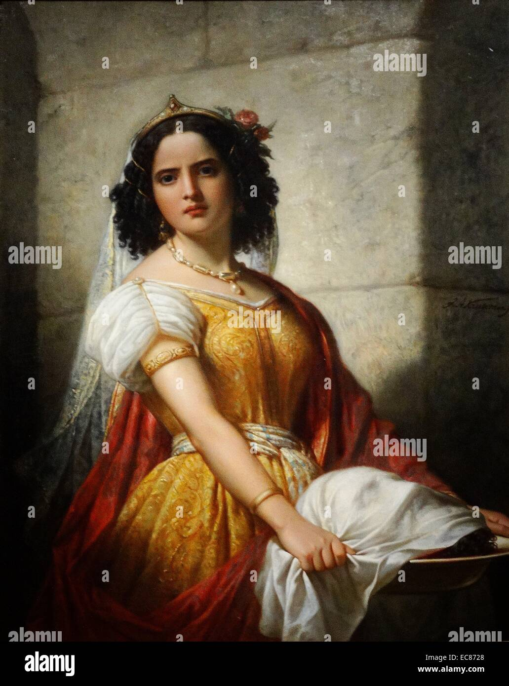 Portrait of Salome with the Head of John the Baptist - Stock Image