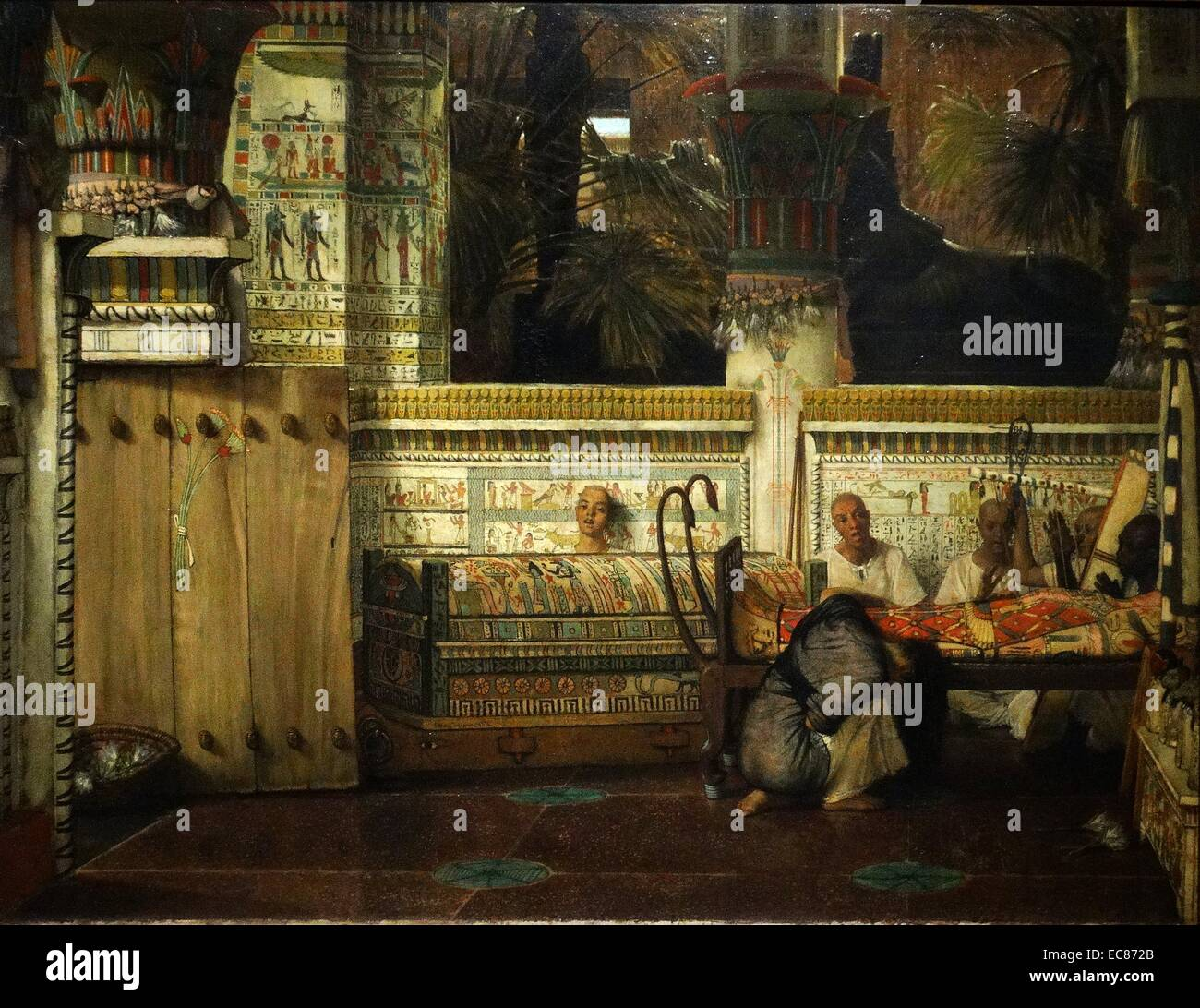 Painting titled 'The Egyptian Widow' - Stock Image