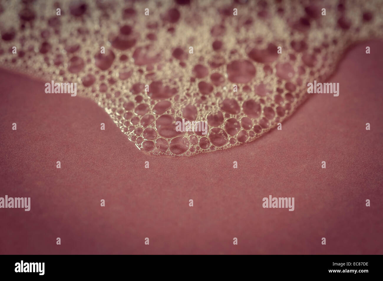 foam bubbles, abstract background. - Stock Image