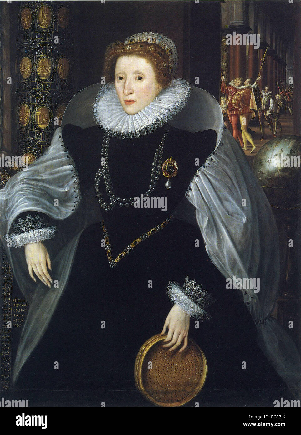 Portrait of Queen Elizabeth I. Painted by Quentin Metsys the Younger (1543-1589). Dated 16th Century - Stock Image