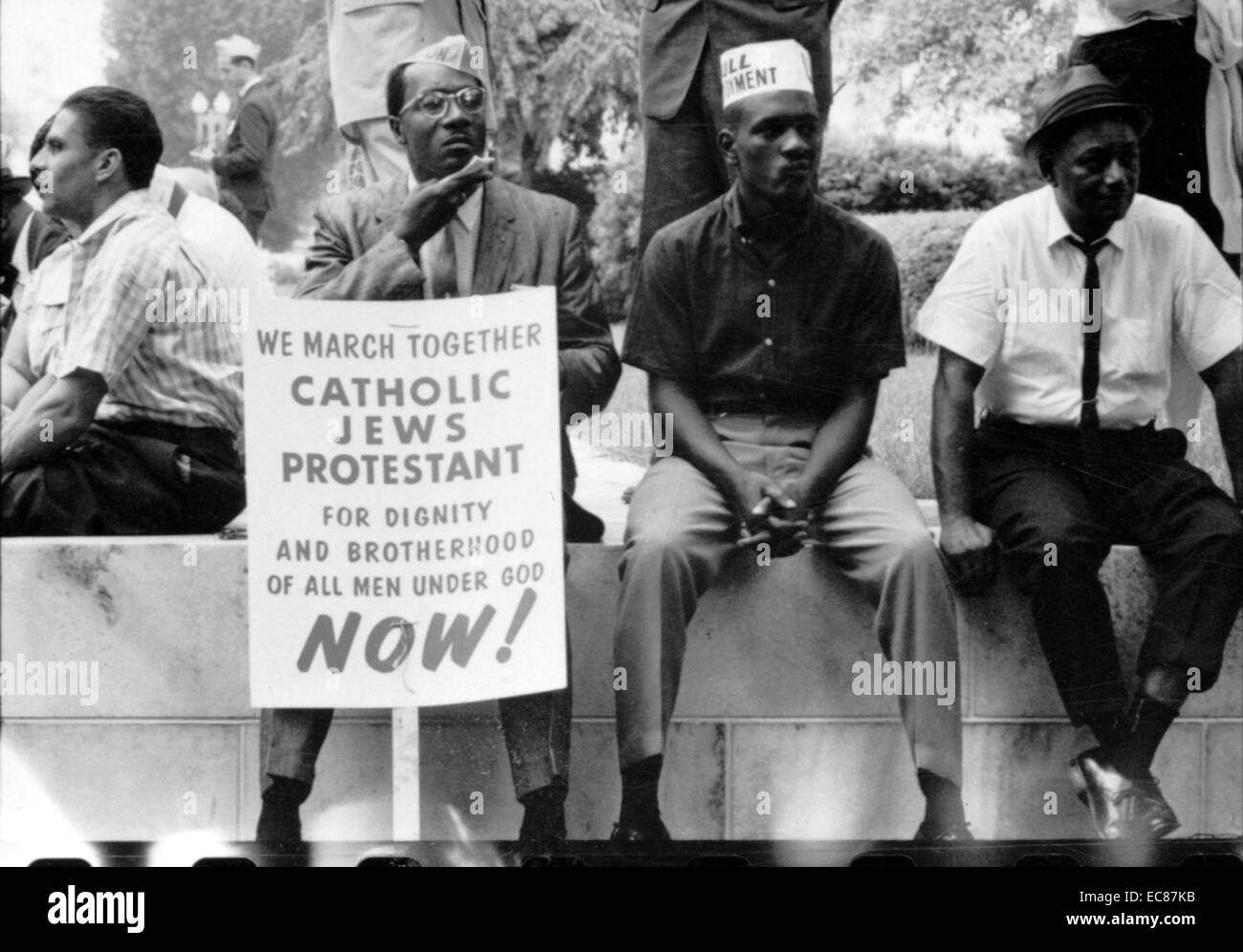 Photograph of a civil rights march from Selma to Montgomery, Alabama. Dated 1965 - Stock Image