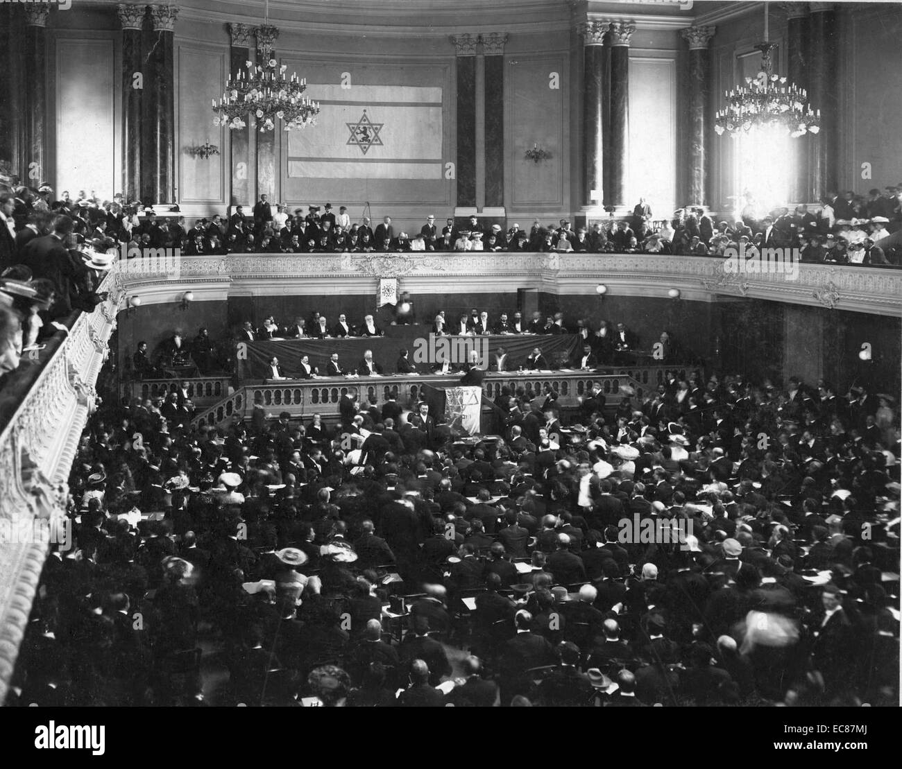 Photograph of the Zionist Congress Basle - Stock Image